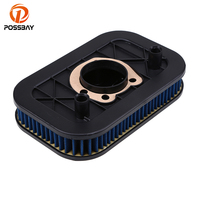 POSSBAY Air Filter Cleaner Motorcycle Scooter For Harley Sportster 883 1200 2004 2014 Cafe Racer ATV Air Cleaner Air Filter