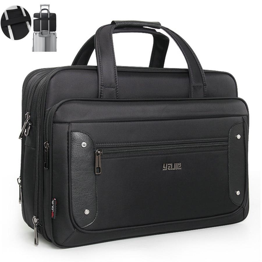 Men Briefcase Laptop Bags Good Nylon Cloth Multifunction Waterproof 16 17 19 Inch Oxford Crossbody Travel Bag