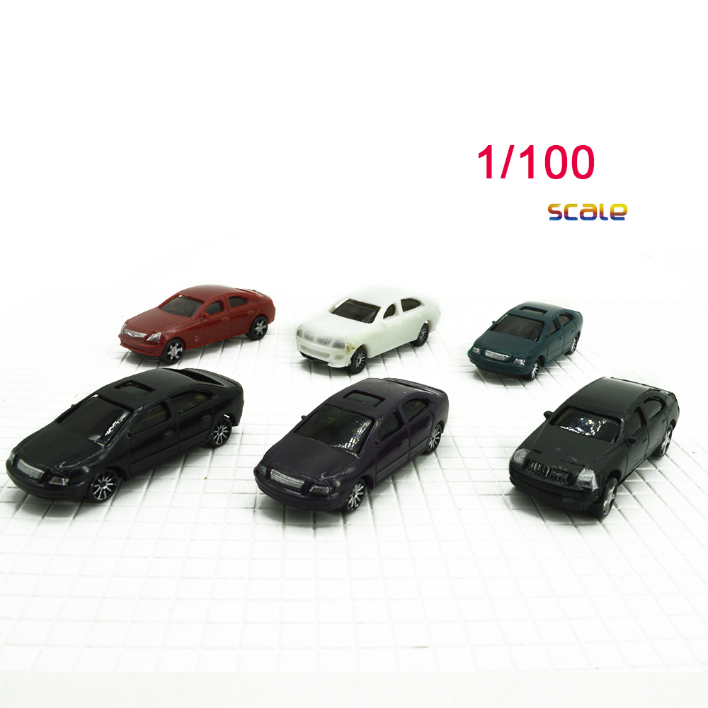 1/100 Scale Model <font><b>Car</b></font> Painted For Building Road Landscape Sand Table Model Trains Layout Hot Sale Plastic Diorama image