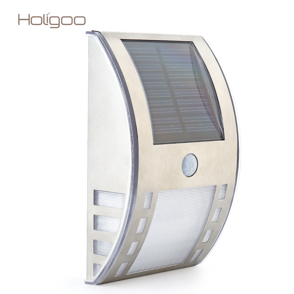 Holigoo Waterproof 3 LED Solar <font><b>Light</b></font> PIR Motion Sensor Solar Lamp Garden Yard Outdoor Wall Pathway Balcony Porch Fence <font><b>Lights</b></font>