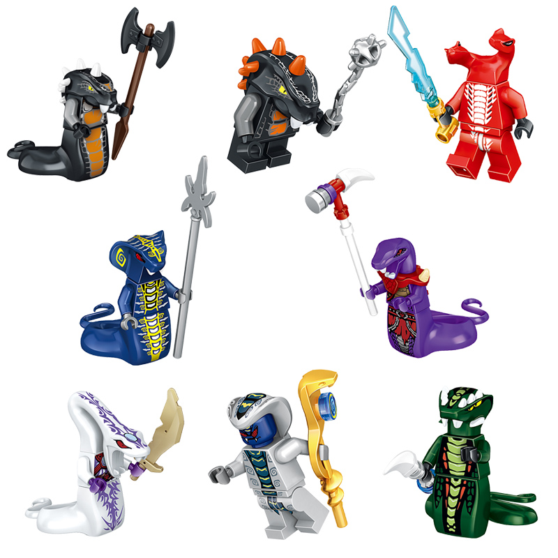 Single Sale NINJA Figures Heroes Kai Jay Cole Zane Nya Lloyd Basilisk Weapons Action Toys Ninjagoinglys Figures Blocks Toys