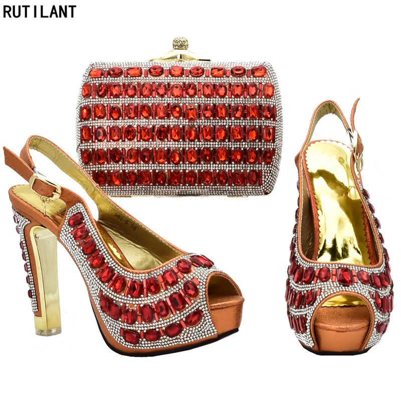 新入荷イタリアマッチングの靴やバッグセットにパーティー結婚式の靴アフリカマッチングの靴とバッグセットかかと