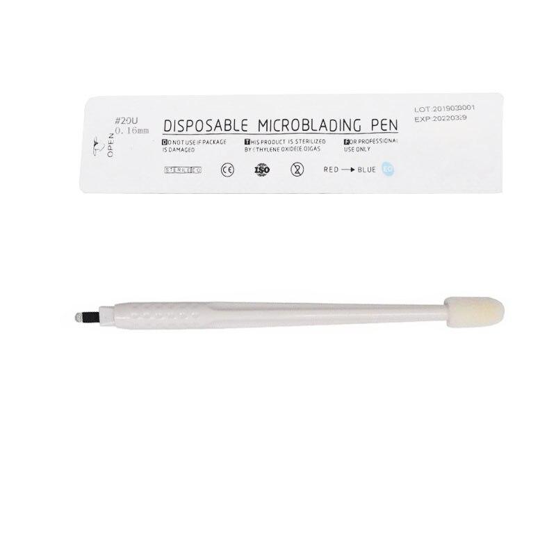 Disposable Eyebrow Microblading Pens Tattoo Manual Pen Supplies Permanent Makeup Needles Blades