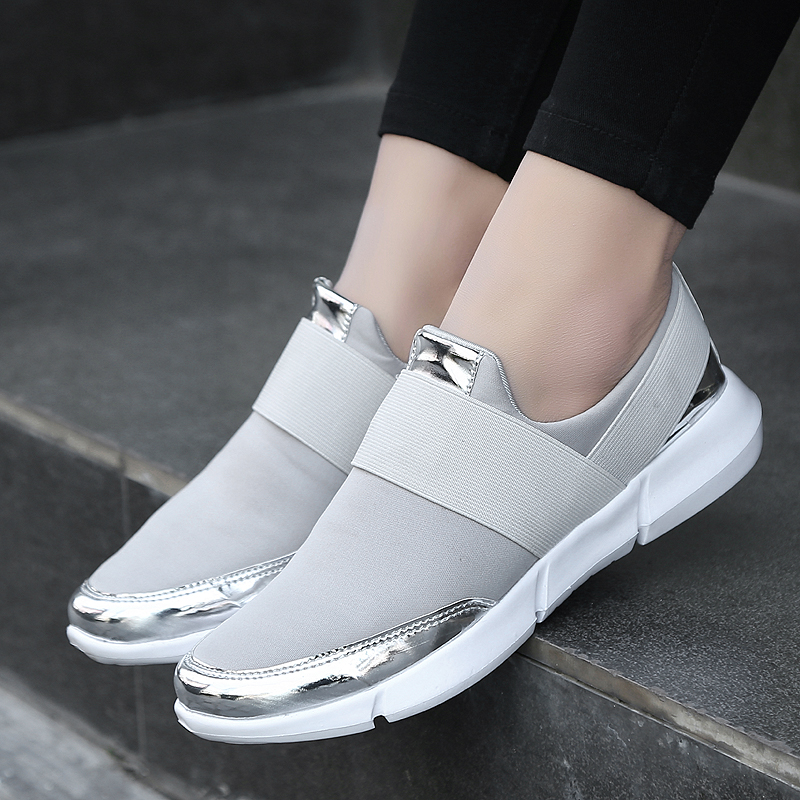 009ee529c9b1 2018 Spring Autumn Shoes Women Casual Female Platform Shoes Sneakers Slip  On Women Flat Tenis Feminino Lady Shoes Solid Loafers-in Women s Flats from  Shoes ...