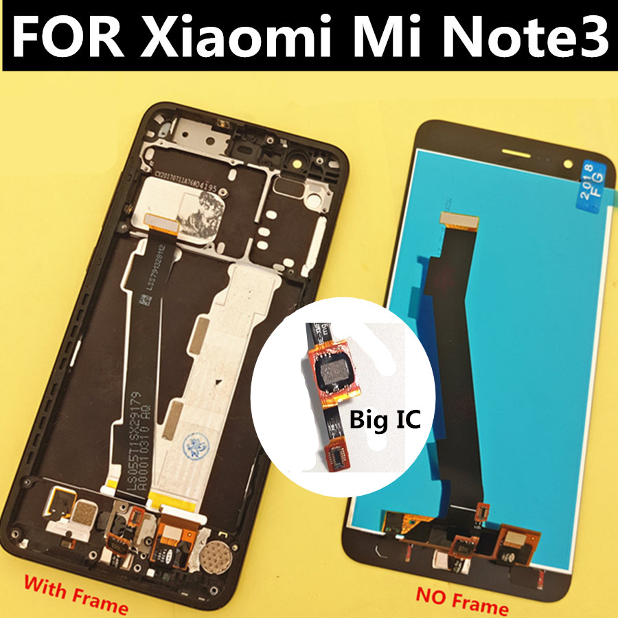 display with frame For Xiaomi Mi Note3 LCD Display Touch Screen with frame Replacement Accessories For