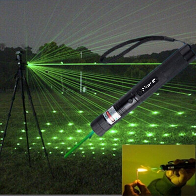 Flashlight Torch Charger Battery Key Laser Pointer Flashlight Green Light Adjustable 5 Modes Waterproof Green Laserpointer
