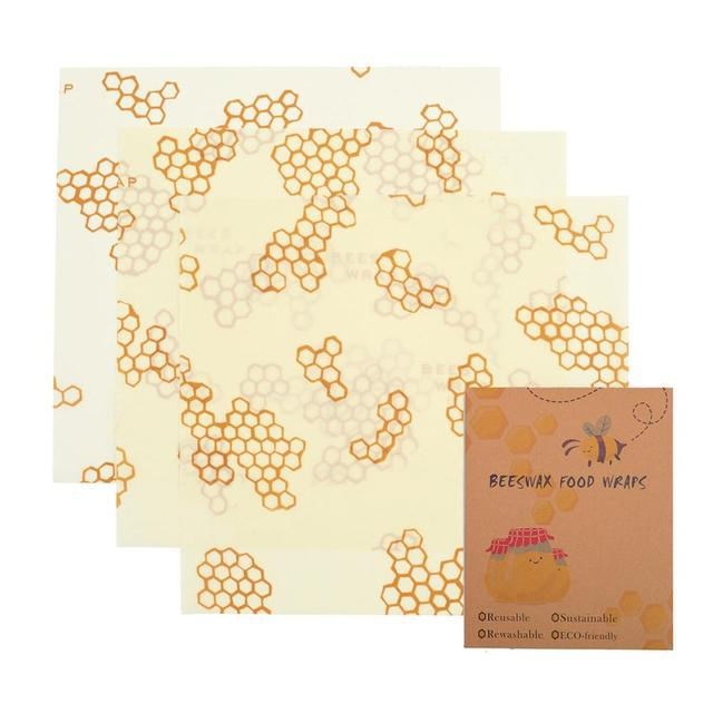 Organic Bees Wrap Reusable Food Cloth Wrap Non-Toxic Vacuum Food Kitchen Storage