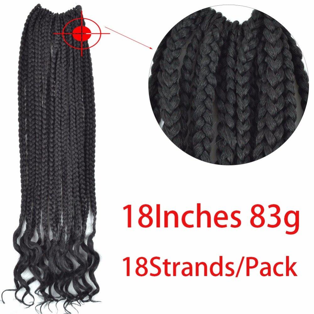 Chorliss 18 pulgadas crochet trenzas torsión cabello extensiones ...