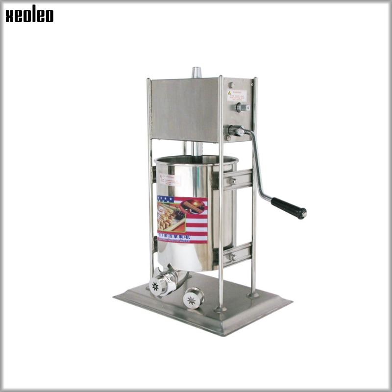 XEOLEO 7L Churros faisant la machine de remplissage de fruits Latin Gigi machine de remplissage de fruits équipement automatique Commercial d'acier inoxydable