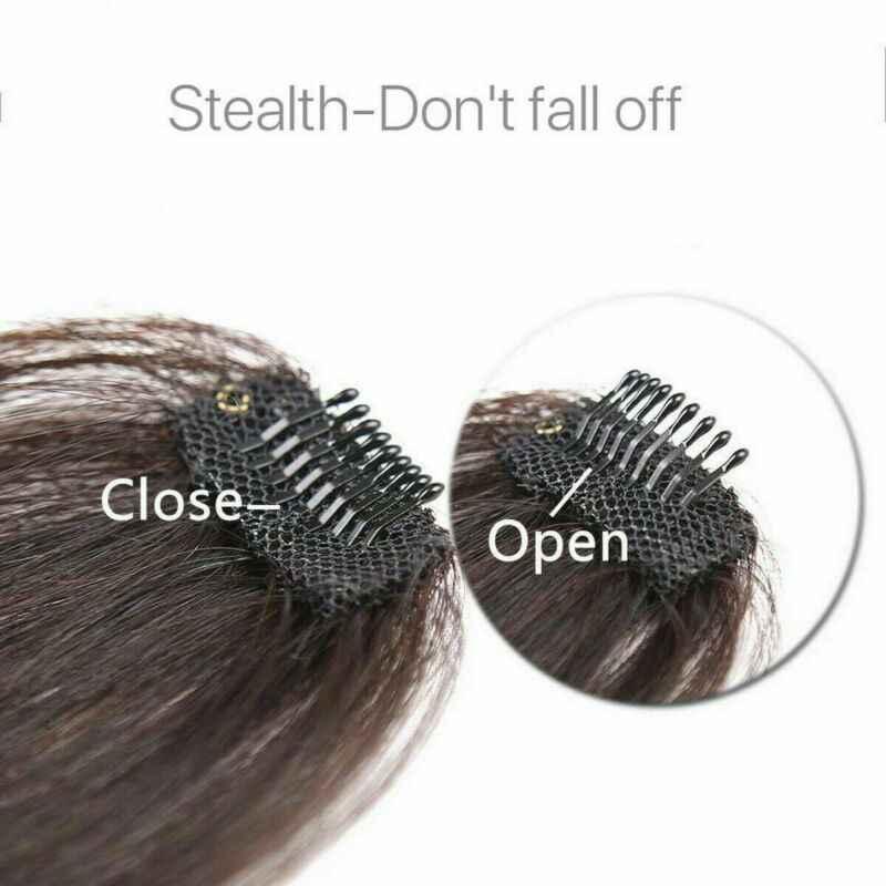 דק אוויר מסודר פוני דליל נדל רמי שיער טבעי בשולים מול פאה אוויר פוני רמי שיער טבעי הרחבות קליפ 2019 חדש