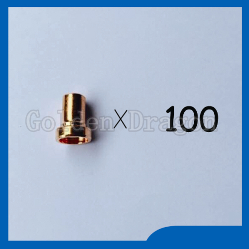ФОТО Free shipping 100pcs PT-31 LG-40 Plasma Cutting Cutter Torch Consumables Extended Long Nozzles Tips Fit CT-312 CUT-30 CUT-40 CUT