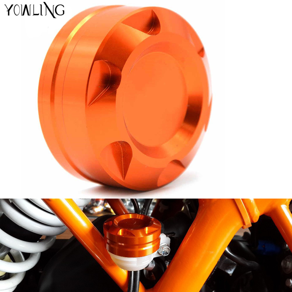 2017 Motorcycle Aluminum CNC Engine Rear Fluid Reservoir Cap Cover For KTM DUKE 125 200 390 RC 125 200 3902013 2014 2015 2016 for ktm 390 200 125 duke 2012 2015 2013 2014 motorcycle accessories rear wheel brake disc rotor 230mm stainless steel