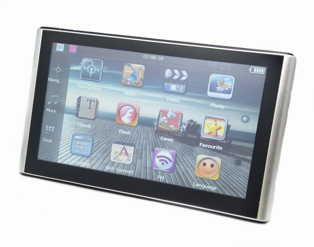 """"""" емкостный экран Автомобильный gps навигатор 256M8GB Sat Nav с бесплатными новыми картами, беспроводная камера заднего вида реверсивная парковочная система"""