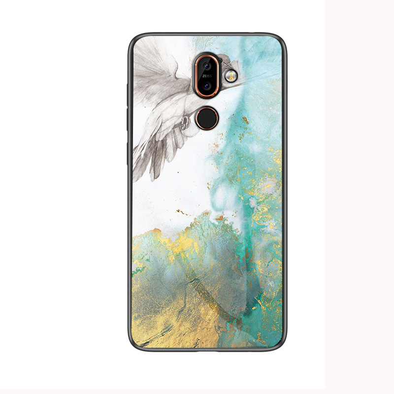 Image 5 - Luxury Marble Tempered Glass Phone Case For Nokia X7 X71 X6 Hard Case For Nokia 7.1 7 1 4.2 3.1 Plus Cover Coque Silicone Capa-in Fitted Cases from Cellphones & Telecommunications