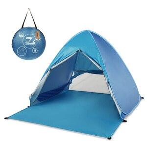 Image 1 - Lixada Automatische Instant Pop Up Strand Zelt Leichte UV Schutz Sun Shelter Zelt Cabana Zelte Outdoor Camping