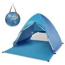 Lixada otomatik anında Pop Up plaj çadırı hafif UV koruması güneş barınak çadır Cabana çadır açık kamp