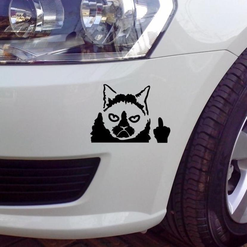 2018 hot selling Grumpy Cat Funny Car Sticker Vinyl Art Graphics Decals For Car Bumper Window car styling Vicky