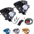 2pcs Universal 125w u5 led 12v motorcycle motorbike headlight led lamp motorbike Fog spot light 125w 3000lm cree Chip Head Lamp