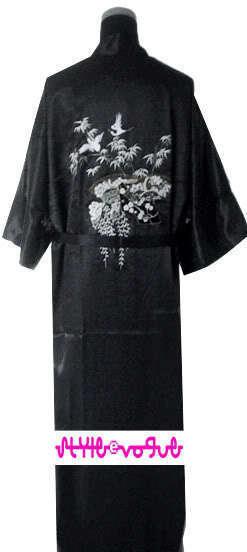 Высокое Качество Женщин Silk Район Одеяние Платье Классический Вышивка Кимоно Ночная рубашка Пижамы Сауна Белье Плюс Размер S-XXL