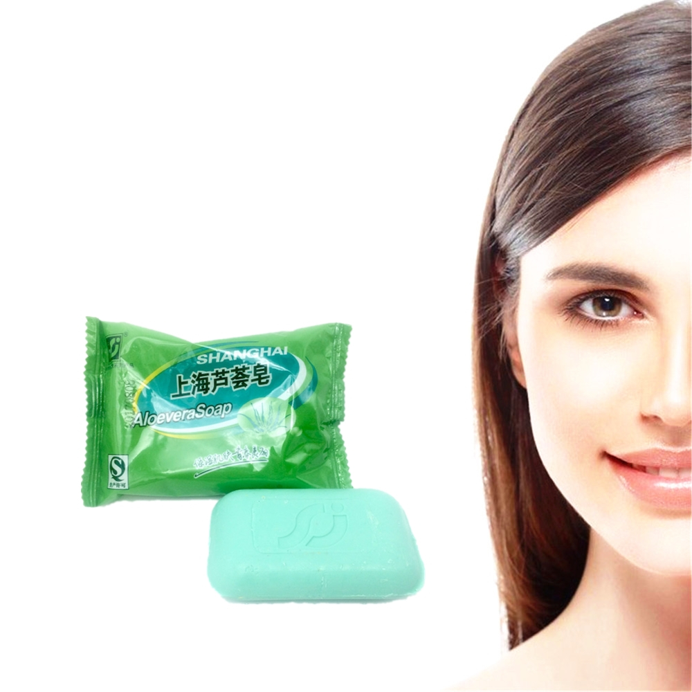 Pure Natural ALOEVERA Soap 85g Ageless Hydrating Face Care  Antioxidant Anti-wrinkle Whitening