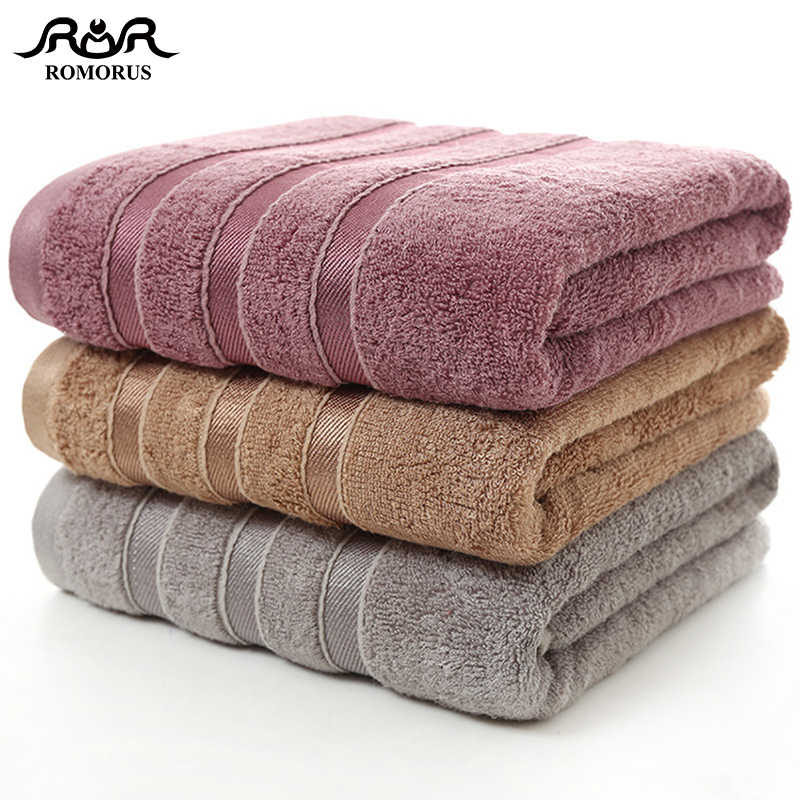 Bamboo Fiber Towels Purple Gray Brown