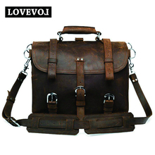 Clearance Crazy Horse Cowhide Leather Men's Shoulder Bag Double Shoulder Strap Square Style Men's Shoulder Bag Fashion Backpack 4M2