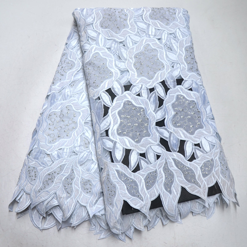 White Lace Fabric Swiss Voile Lace In Switzerland High Quality 2019 Swiss Lace Nigerian Lace Fabrics For Men 5 Yards RG636-in Lace from Home & Garden    1