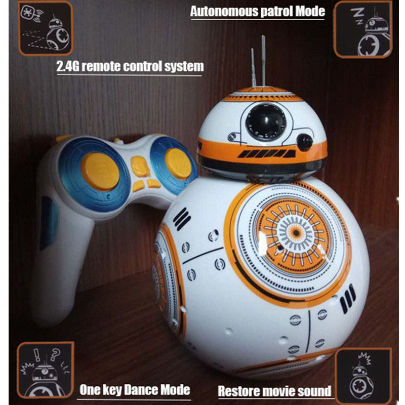 Star Wars: The Force Awakens Intelligent Telecontrol Robot BB-8 With LED Light Touch Music Phonation Flash Action Figure S566 стоимость