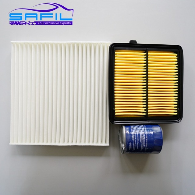 Set Filters For Honda Fit / CITY 1.5L Air Filter + Cabin Air Condition+ Oil