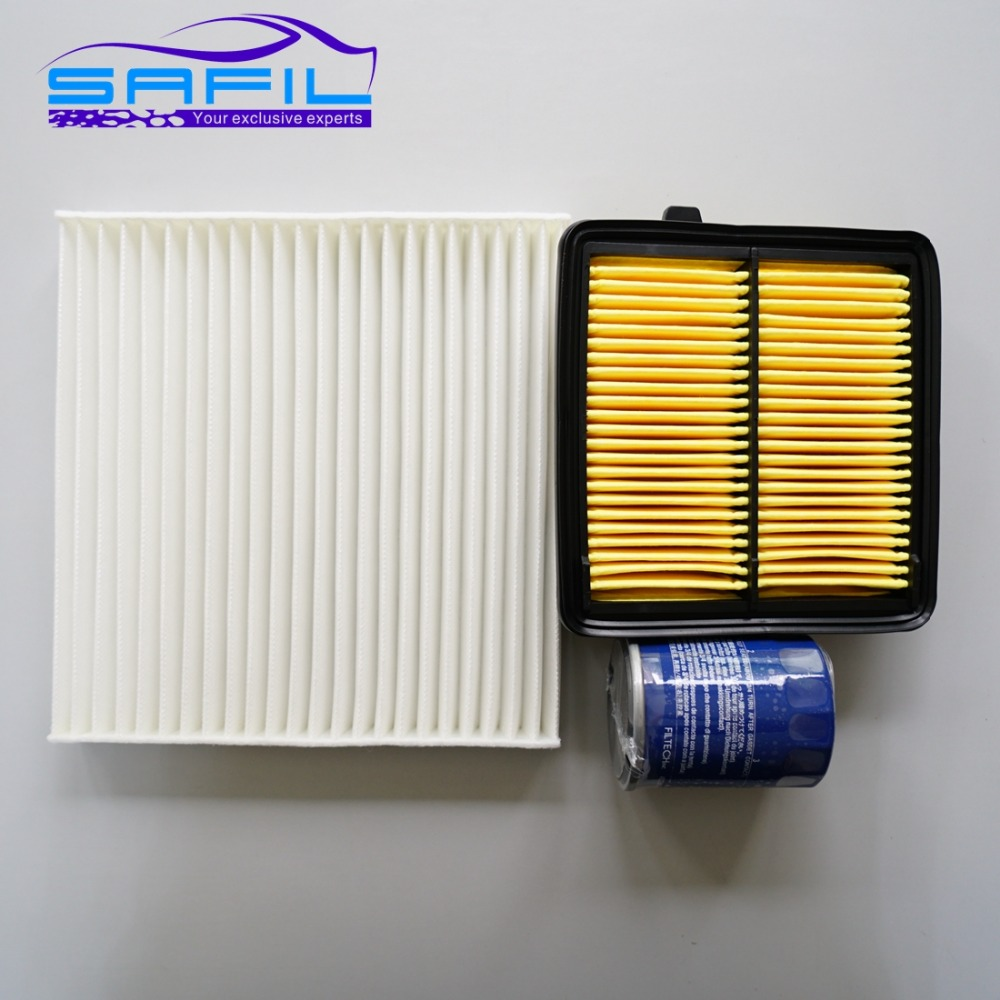 Set filters for honda fit city 1 5l air filter cabin air condition oil