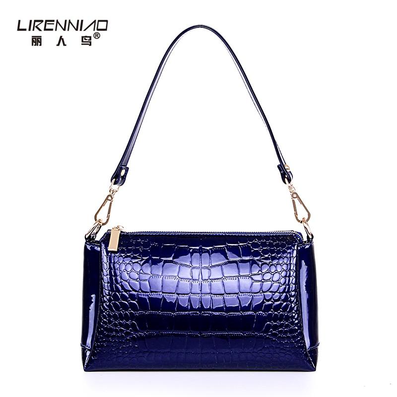 LIRENNIAO Brand Handbag Women Shoulder Messenger Bags Balck Leather Small Cross
