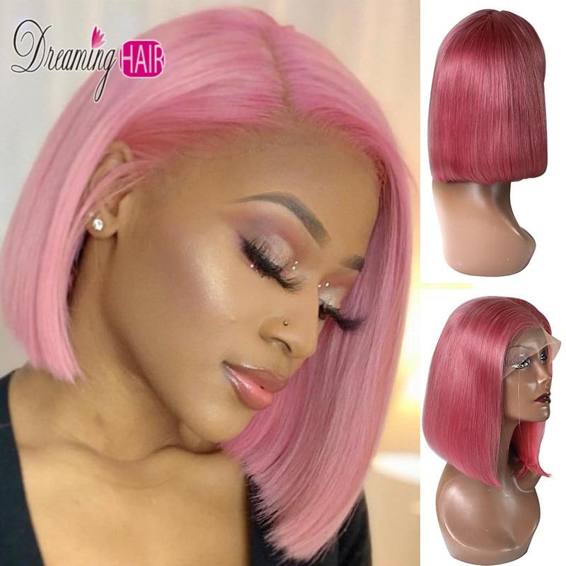pink lace bob wig