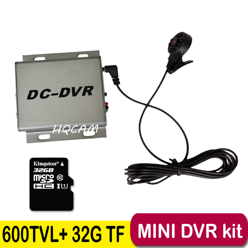 ФОТО 1CH mini camera kit mini dvr kit WD Model Portable Mini CCTV Surveillance 32G TF Card DVR + Mini Camera Car DVR 8pcs 940nm leds