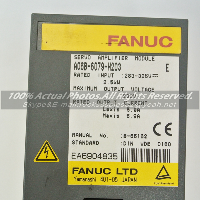 Used in good condition A06B-6079-H203 Fanuc Servo Module  With Free Shipping a06b 6058 h223 used in good condition