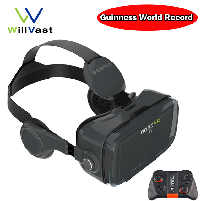 BOBOVR Z4 / Z4 mini Virtual Reality Goggles 3D VR Glasses Google Cardboard with Headphone for Android iPhone 4.7-6.0 inch