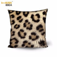 HUGSIDEA Stylish Leopard Zebra Pattern Cushion Cover Stripe Print Parlor Sofa Pillowcases Bedding Living Room Office Pillow Case цена