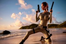 Home decoration  sexy girl sea diver the woman the warrior imitation poster SG098