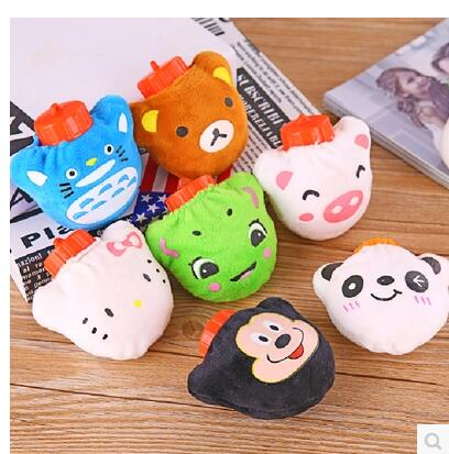 Mini cute plush hand warmer pot portable water warm water bag is not water and hot water bottle can be removed and washed warm plush detachable wash safety explosion proof hot water bottle plush turtle clown fish nemo