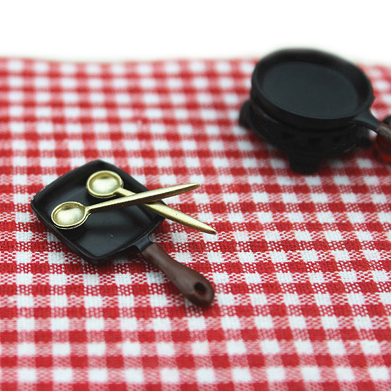 1/12 Dollhouse Miniature Simulation Mini Spoon Kitchen Tools Model Toys For Doll House Accessories Decoration