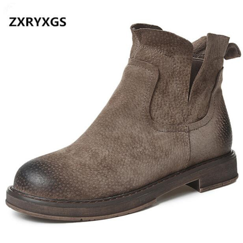 2019 new Elegant Fashion autumn winter boots women shoes flat Non-slip Martin boots matter genuine leather boots women boots2019 new Elegant Fashion autumn winter boots women shoes flat Non-slip Martin boots matter genuine leather boots women boots