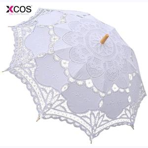 Image 5 - Vintage Purple Blue Red Black White Ivory Lace Manual Wedding Umbrella Bridal Parasol Umbrella Accessories For Wedding Cheap