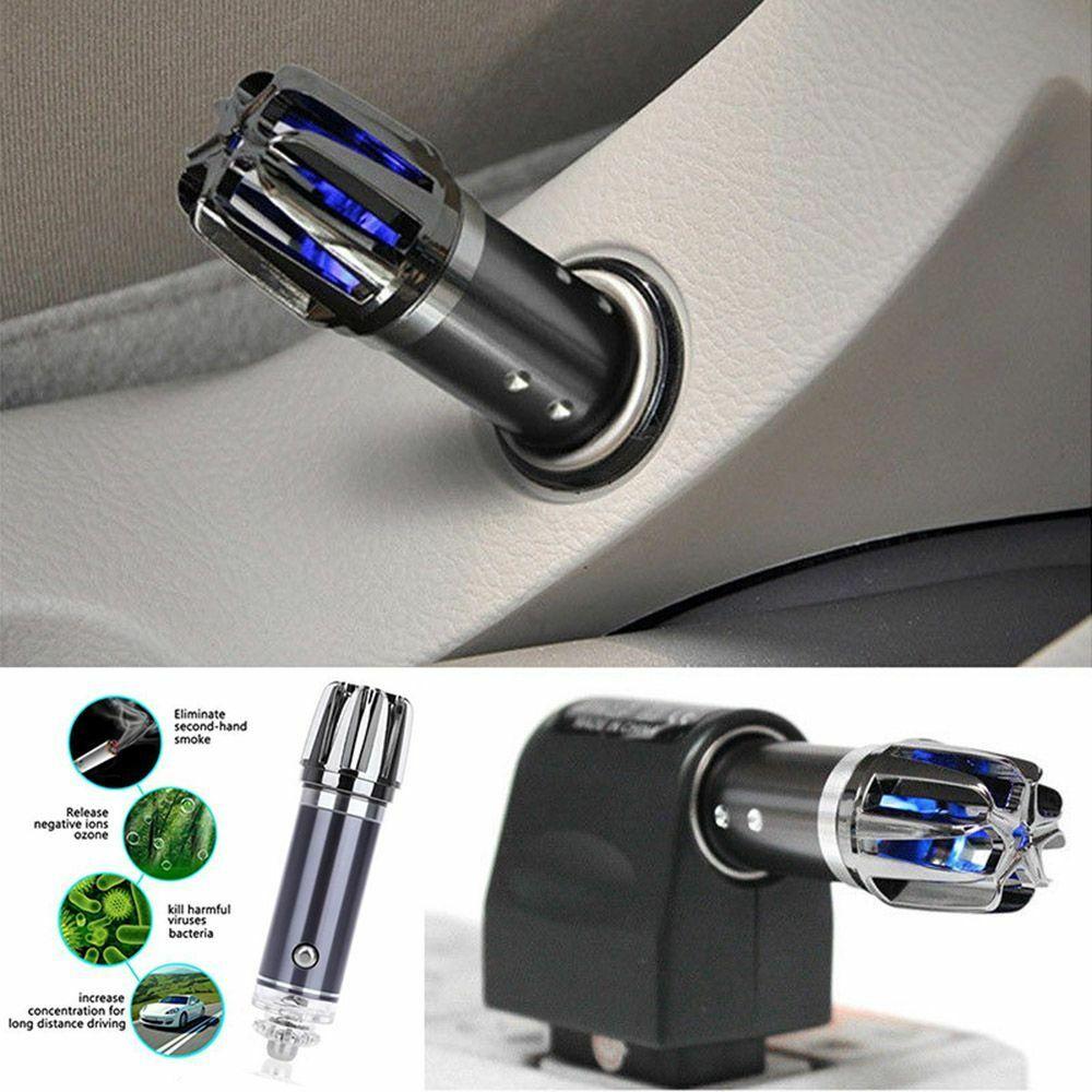 Vente chaude Mini Auto voiture Air frais ionique purificateur oxygène Bar Ozone ioniseur nettoyant 12V