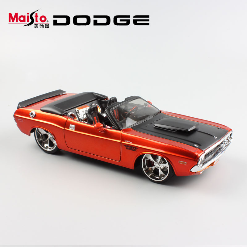 124 scale children dodge challenger 1970 charger metal muscle die cast racing vintage model miniature cars toys gift for kids