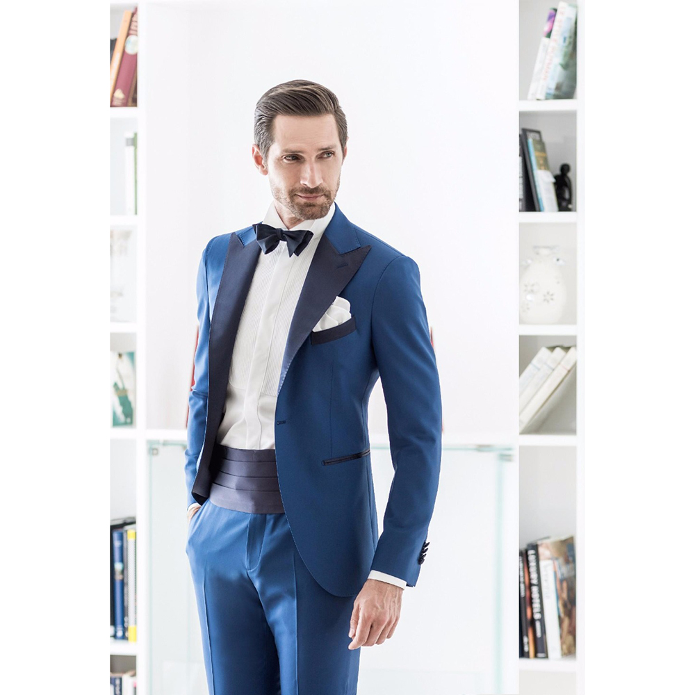 Latest Coat Pant Designs Blue Formal Italian Men Suit Skinny Tuxedo Prom Gentle Dinner M ...