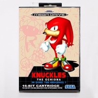 Knuckles The Echidna In Sonic The Hedgehog 1 - Retail Box - Sega Megadrive/Genesis