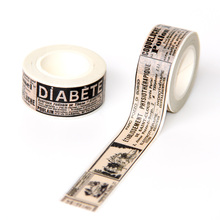 1pcs free shipping adhesive paper washy tape Decorative Office Masking Tape Scrapbooking School Supply Gift Stationery 8 colors self adhesive acrylic tape rhinestones scrapbook craft tape bling decoration school office supplies stationery gift