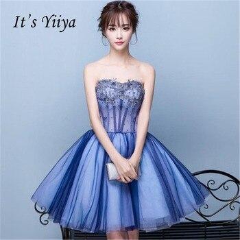 Es Yiiya Tul Vestidos De Cóctel 2018 Moda Diseñador Calidad