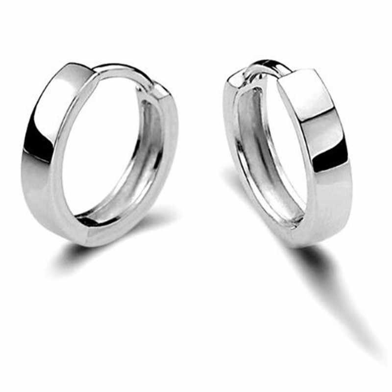 2bb96d4244cefa Brand Design Antique Jewelry Men Women 100% 925 Sterling Silver Earrings  For Women Silver Hoop