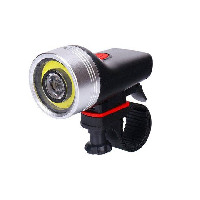 Cycling USB Rechargeable Bike Light Double Lamp Beads Handlebar Bicycle LED COB