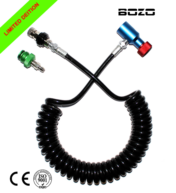 Pcp Airsoft Paint Marker Coil Remote Hose Thick Line 3.5M With SlideCheck(multi-color) Limited Edition Paintball New